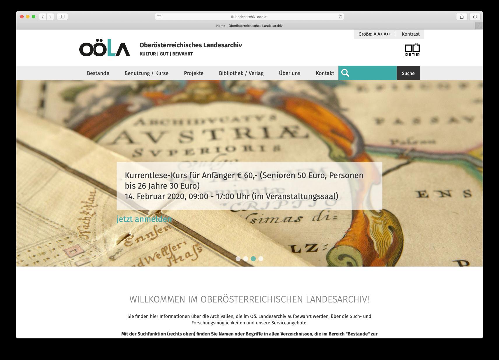 OÖLA Website Screenshot